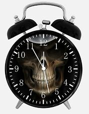 "Skull Alarm Desk Clock 3.75"" Home or Office Decor E163 Nice Gift"