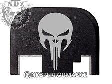 for Glock Rear Plate 17 19 21 22 23 27 30 34 36 41 Blk G1-4 NDZ Skull 2