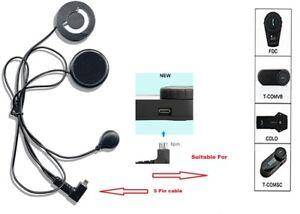 FreedConn  Mic/microphone/speaker 5pin Bluetooth Soft Cable Intercom Headset