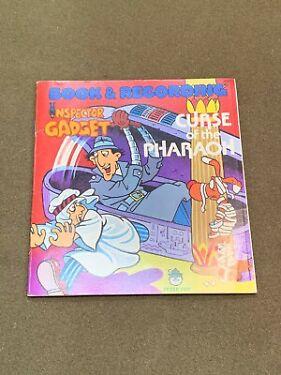 Inspector Gadget Book  Record Recording Curse of the Pharaoh Peter Pan 1981