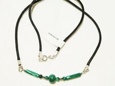 "MALACHITE CHOKER NECKLACE 48CM SILVER PLATED ""NEW"" AUZ MADE CH26"