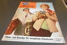 zeitschrift agfa photo illustrierte reise saison heft 1961 alt reklame / werbung