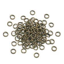Wholesale Mixed Lots Gold Plated Open Jump Rings 6x1mm GW