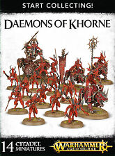 Start Collecting Daemons of Khorne Warhammer Age of Sigmar 40k Chaos NEW
