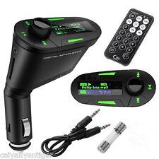 T168Green In-Car Radio MP3 Music Player USB SD Card Slot Wireless FM Transmitter
