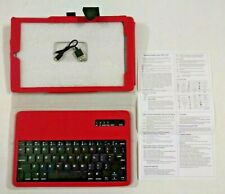 New Folio Wireless Keyboard Case Cover Stand 4 Amazon Fire 10'' Tablet 2015 Red