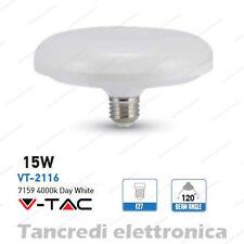 Lampadina led V-TAC 15W = 90W E27 bianco naturale 4000K VT-2116 ufo disco F150