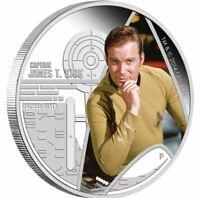 2015 STAR TREK CAPTAIN JAMES T KIRK Silver Proof Coin