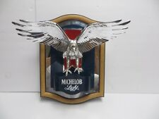 Vintage Michelob Light Beer Flying Eagle Mirror Sign Wall Display Man Cave