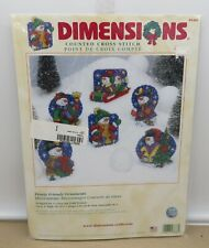 Dimensions Frosty Friends Ornaments Kit #8686 Sealed