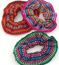 New Elastic Hair Scrunchies (Set of 3) Hand Made by Mayan Artisans Ethical Made