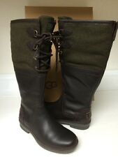 Ugg Australia Women's Elsa Waterproof leather Tall Boots Size 5.5 Color Brown