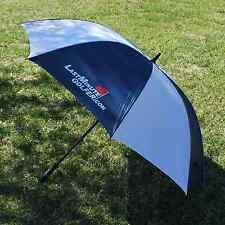 """Last Minute Golfer - 62"""" Golf Umbrella BLUE & WHITE - NEW"""