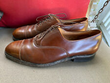 Allen Edmonds Park Avenue Mens Shoes Cognac Brown Leather Oxfords Size 10.5E
