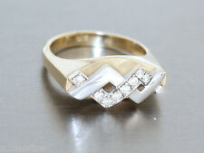Ring Gold 585 - Damenring in 14 kt Gold (585 Gold) mit Zirkonias