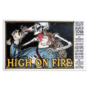 Frank Kozik - 2000 - High on Fire Los Angeles Concert Poster Acid King Lost Goat