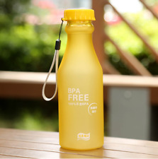 550ml Unbreakable Outdoor Sports Travel Water Glass Bottle Portable Leak-proof Dark Blue