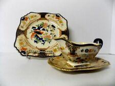Westminster Grimwades Royal Winton Ivory England Gravy Boat & plates