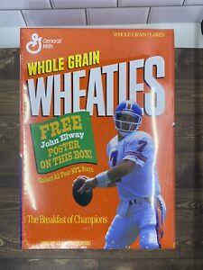 John Elway 1994 Sealed 12 Oz Full Wheaties Box W/Poster Denver Broncos