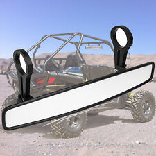 15 Wide Rear View Race Mirror Ultra Clear With 175 Clamp For Honda Rzr Utv