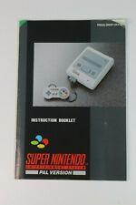 Super Nintendo Instruction Booklet