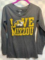 Love MIZZOU Tigers University Missouri Women's Shirt Size S