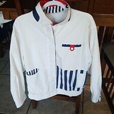 Vintage 80s/90s IZZI Red White Blue Colorblock Windbreaker Bomber Mens Jacket