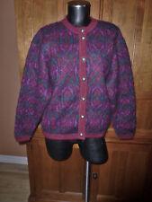 VTG MOHAIR Edinburgh British Knit Sweater Cardigan Sz M L EXCELLENT