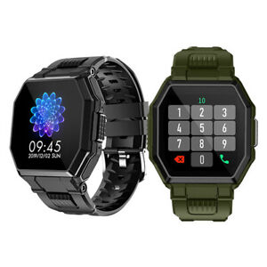 Smart Watch Military Style Outdoor Sport Heart Rate Fitness Tracker Call For Men