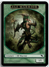 MTG X4: Elf Warrior Token, Shadowmoor, C, Moderate Play - FREE US SHIPPING!