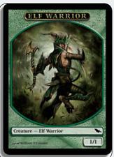 MTG X4: Elf Warrior Token, Shadowmoor, C, Light Play - FREE US SHIPPING!