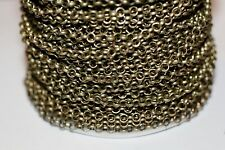 15ft 3m Antique brass Rolo Cable Chain links-unsoldered 1-3 day Ship