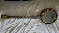 More details for vintage 'the new windsor patent' 5 string banjo fresh gut strung and playable.