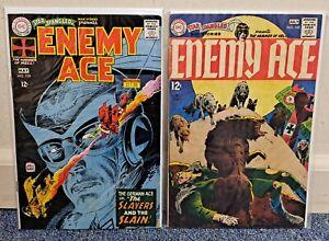 Star Spangled War Stories #138 Enemy Ace Begins #145 DC War Comics 1968