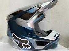 Fox Racing V1 MVRS Off-Road SxS MX Motocross Helmet Motif Blue Medium NO BOX