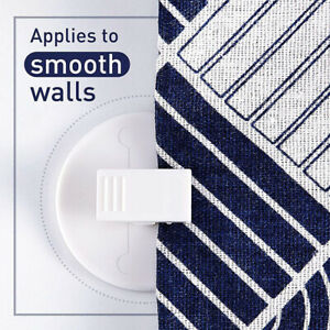 6pcs Self  Windproof Fixed Buckle Anti Splash Round Shower Curtain Clip