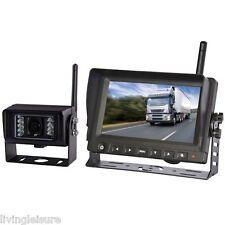 "7"" Digital Wireless Reversing Camera Kit for Motorhome Caravan Truck 12V 24V"