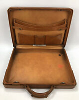Vintage Hartmann Brown Leather Carry-On Luggage Travel Bag Briefcase AA