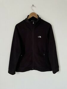 Womens The North Face Black Full Zip Fleece Jacket Coat Size Large