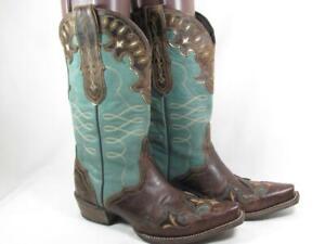 Ariat Zealous Inlay Cowboy Boot Women size 9 B