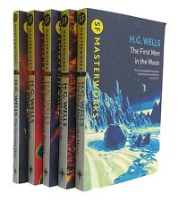 H G Wells 5 Book Classic Science Fiction Sci Fi Masterwork War of the Worlds New