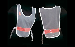 Jogalite Women Women's Reflective Vest White Pink Ribbon Run Walk Reflexite