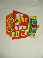 XL white THE PRICE IS RIGHT LIVE t-shirt unbranded
