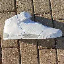 SUPRA Ellington Cinturino Bianco-white Mid Top UK 9 Pelle Sneaker Uomo