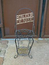 """interessanter Gartenstuhl, schmiedeeisern, """"Bonjour DENISE"""", Frankreich 1987"""