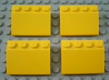 LEGO Lot of 4 Yellow 3x4 Roof Slope Pieces
