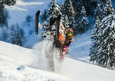 A4  Snow Mobile Stunt Riding Poster Size A4 Adrenaline Ski Poster Gift #16051