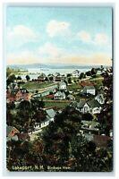 Postcard Birdseye View Lakeport NH G21