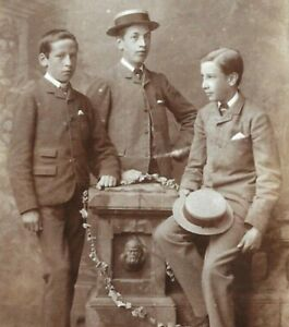 Victorian CDV Photo Brothers Young Boys Milne Arbroath Scotland 1870s-1880s