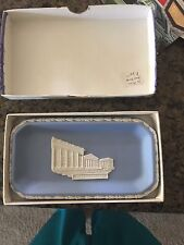 Vintage WEDGWOOD JASPER Pale Blue Sweet Dish Oblong Dish *MINT, NEVER USED*